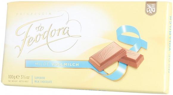 Feodora Tradition Tafel aus milder Edel Vollmilchschokolade 100g