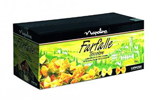 Knorr Farfalle Tricolore Schmetterlingsnudeln - feinste Qualität, 3 kg