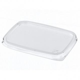 Deckel für Verpackungsbecher Polypropylen eckig transparent 100 Stück