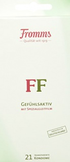 Fromms FF Gefühlsaktiv mit Spezialgleitfilm transparent, 21 Kondome