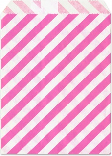Geschenktuete pink gestreift 25 Stueck