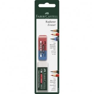 Faber Castell Erasers Kunststoffradierer Radiergummi Set 2teilig