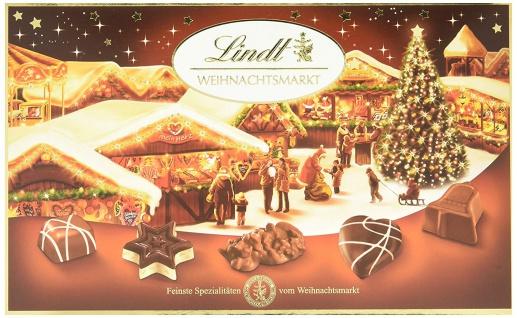 Lindt Weihnachtsmarkt Pralinen aus Vollmilch Schokolade 130g 4er Pack