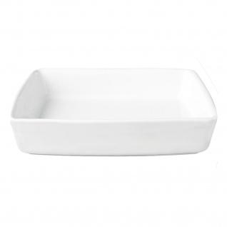 Grande Auflaufform rechteckig hochwertig weiße Keramik 27, 5 x 18, 5 cm