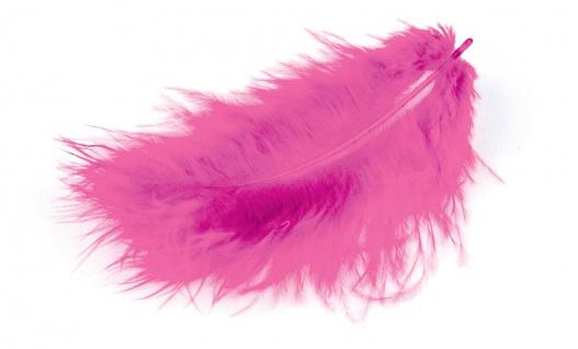 Meyco Marabu Federn in rosa 17 Stück im Beutel circa 10 bis 12cm lang