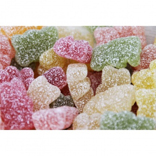 Fruchtgummi Bären extra sauer bunte Bärchen in saurem Zucker 1000g