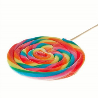 Rainbow Spiral Lolly Maxi extra großer Frucht Lutscher einzeln 100g