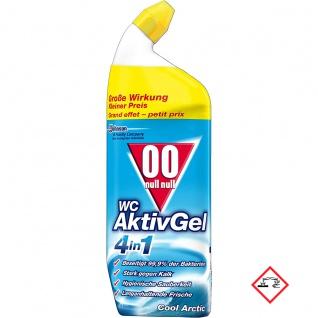 OO WC Aktiv Gel 4 in 1 Cool Arctic Toilettenreiniger 750ml 4er Pack