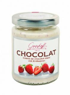 Grashoff Chocolat Blanc mit Erdbeeren aus weißer Schokolade 250ml 3er Pack