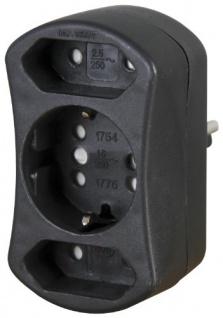 Kopp 179605004 DUOversal Adapter, schwarz