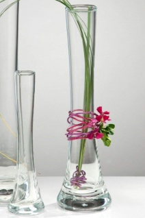 Glasvase Blumenvase von Sandra Rich Serie SOLIFLEUR Transparent 26 cm