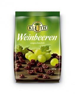 Weinbeeren ungeschwefelt, 2er Pack (2 x 500 g)