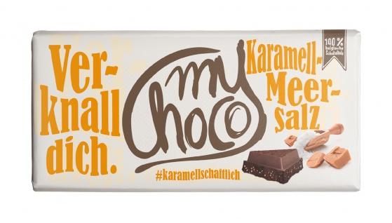 My Choco Karamell Meersalz Schokolade 180g