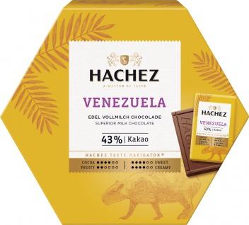 Hachez Ursprungstäfelchen Venezuela Edel Vollmilch Schokolade 165g