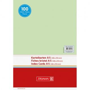Karteikarten Brunnen A5 Farbe grün unliniert Inhalt 100 Stück