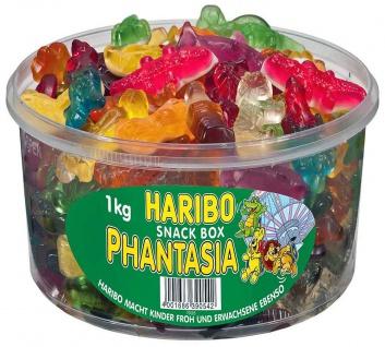 Haribo bunte Fruchtgummi, Weingummi Snack Box Phantasia 1000g