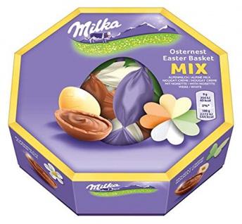 Milka Oster Nest aus feiner Alpenmilch Schoko 144g 2er Pack