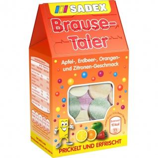 Sadex Brause Taler Apfel Erdbeer Orange Zitrone Geschmack 125g
