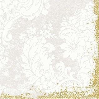 Duni Zelltuch-Servietten 3 lagig 1/4 Falz 33 x 33 cm Royal White, 250 Stück