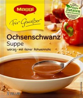 Maggi Für Genießer kräftig cremige gebundene Ochsenschwanz Suppe 42g