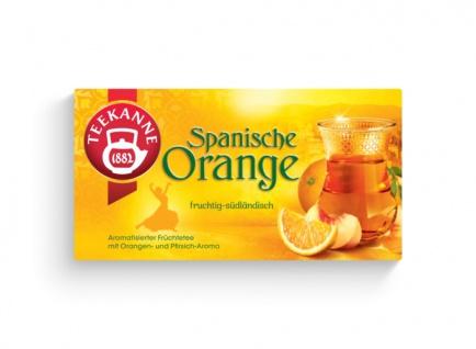Teekanne Spanische Orange Ländertee fruchtig südländich 50g 12er Pack