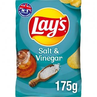 Lays Salt und Vinegar Kartoffelchips mit Salz und Essig 175g