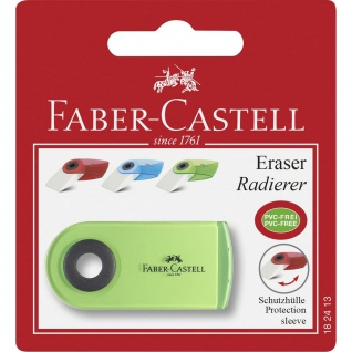 Faber Castell Eraser Radierer Radiergummi Sleeve Mini mit Schutzhülle