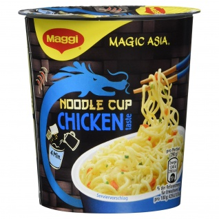 Maggi Magic Asia Noodle Cup Chicken im Handumdrehen servierfertig 65g