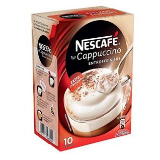 Nescafé Typ Cappuccino Entkoffeiniert, Löslicher Kaffee, Faltschachtel mit 10 x 12, 5g Portionsbeutel (4er Pack)
