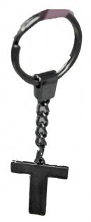 Schlüsselanhänger Taschenanhänger Buchstabenform T in silber