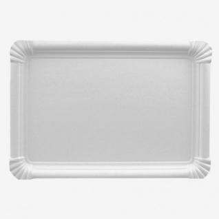 Papstar Einweg Pappteller 26 cm weiß eckig Serie Pure 250 Stück