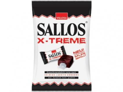 Sallos X Treme Hartkamellen mit Lakritz Salmiak Salz Füllung 150g