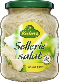 Kühne Sellerie Salat süßlich pikant im Geschmack 370ml 6er Pack