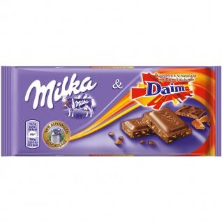Milka & Daim Alpenmilch-Schokolade mit Mandel-Karamell-Stückchen 100g