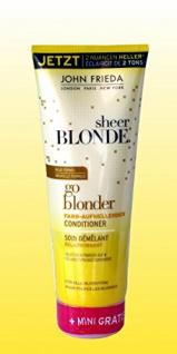 John Frieda - sheer BLONDE, go blonder, Farb-Aufhellender Conditioner 250 ml + Mini Shampoo 50ml