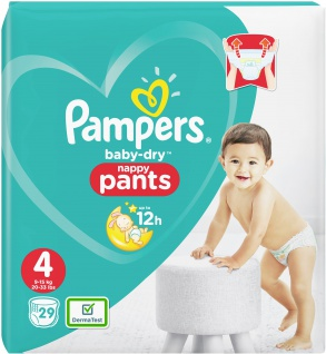 Pampers BABY DRY PANTS Windeln Gr.4 Maxi 9-15kg Einzelpack 29ST