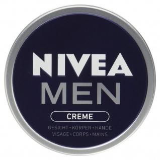 Nivea for Men Pflegecreme pflegt Haut mit intensiver Feuchtigkeit 150ml 4er Pack