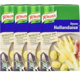 Knorr Sauce Hollandaise perfekt zu Fleisch und Spargel 250ml 4er Pack
