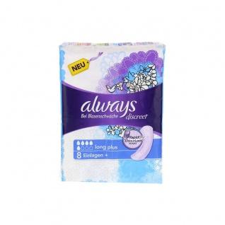 Always und Aldays Discreet Long Plus Bei Blasenschwäche 8 Stück