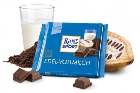 Ritter Sport Edel Vollmilch feine und leckere Schokolade 100g