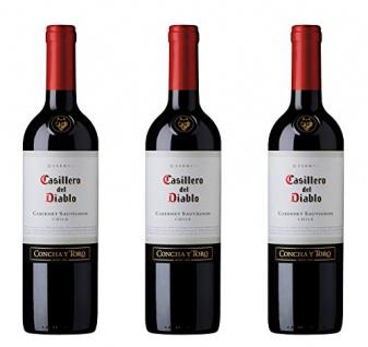 Casillero del Diablo Cabernet Sauvignon Concha y Toro Trocken 750ml 3er Pack