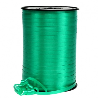 Kräuselband glatt grün 500m frische und belebende Farbe 1 Rolle