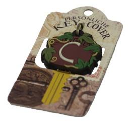 Schlüsselkappe Schlüsselköpfe Form Schild mit dem Buchstabe C