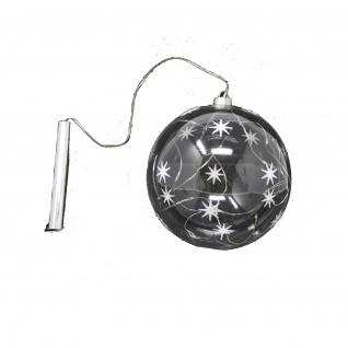 Glaskugel mit LED 15 cm