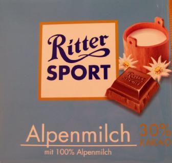 Ritter Sport Alpenmilch 30% Kakao 250g