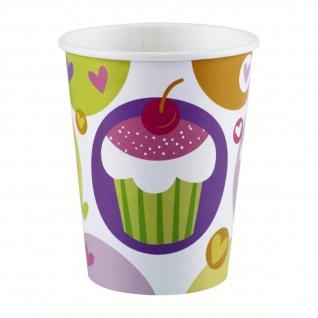 8 Becher Cupcake