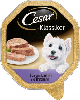 CESAR Klassiker Lamm und Truthahn 150g