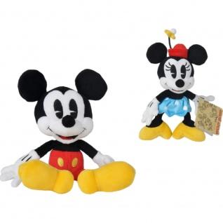 Simba Dickie 6315875976 Disney Mickey und Minnie Retro Plüschtier