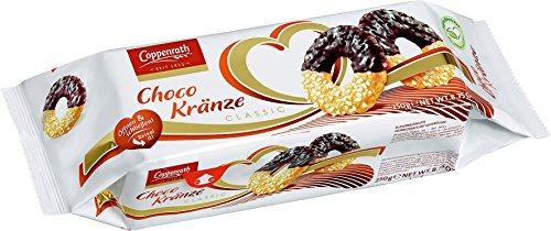 Coppenrath Classic Choco Kränze Zuckerbestreutes Mürbegebäck mit Schokolade 250g