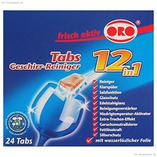 ORO frisch aktiv Geschirr Reiniger Tabs 12 in1 05029 24er Tabs